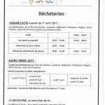 Déchèteries – horaires été à partir du 1er avril 2017