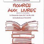 Bourse aux livres – dimanche 4 juin 2017 au Boulodrome Alleins