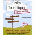 Rallye touristique autour d'Alleins – Dimanche 17 septembre 2017