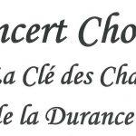 Concert Chorale «La Clé des Chants de la Durance » dimanche 10 décembre 2017