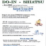 Stage DO-IN – SHIATSU – samedi 12 mai 2018 au Bastidon
