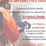 Recrutement Jeunes Sapeurs Pompiers
