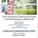 Ma Commune, Ma santé – Réunion publique d'informations – mercredi 19 septembre 2018