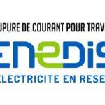 ENEDIS – COUPURES DE COURANT POUR TRAVAUX – mercredi 14 novembre 2018