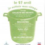 Je nettoie mon village – Collecte des déchets organisée par le CADE – 27 avril 2019 à partir de 14h00