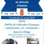 Libération Alleins – Défilé de véhicules d'époque – vendredi 23 août 2019