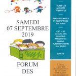 Forum des Associations et Accueil des nouveaux arrivants – Samedi 7 septembre 2019