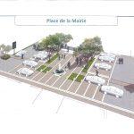 Travaux – requalification des Espaces Publics au centre du village – Place de la Mairie
