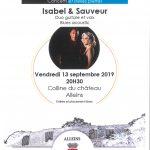 Concert Blues avec Isabel & Sauveur – vendredi 13 septembre 2019