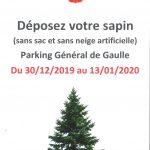 Déposez votre sapin – Parking Général de Gaulle