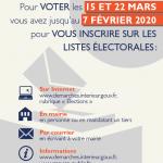 Pour voter en 2020, vous avez jusqu'au 7 février pour vous inscrire sur les listes électorales