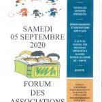 Forum des Associations et Accueil des nouveaux arrivants – Samedi 5 septembre 2020