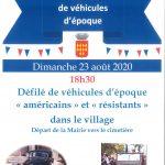 Libération Alleins – Défilé de véhicules d'époque – dimanche 23 août 2020
