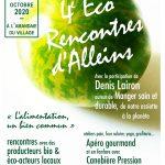 4ème éco-rencontres Alleinsoises organisées par le CADE – samedi 10 octobre 2020