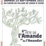 6ème fête de l'Amande et de l'Amandier – Samedi 25 septembre 2021