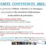 Cafés Conférences 2021-2022 : des rencontres d'informations et des ateliers de prévention