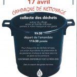 Samedi 17 avril – Campagne de nettoyage organisée par le CADE