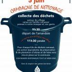 Samedi 05 juin – Campagne de nettoyage organisée par le CADE