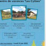 SIVU COLLINES DURANCE – Séjours été 2021 – Centre de vacances «Les Cytises» – Inscriptions