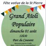 Grand Aïoli Populaire – Dimanche 01 août 2021 – Parc du Couvent